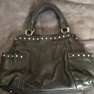 Kenneth Cole Back Leather, Silver Studded Purse